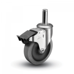 2 Series Grip Ring Stem Caster with Total Lock Brake