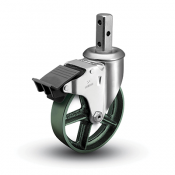 Colson 2 Series Square Stem Swivel Caster with Total Lock Brake