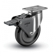 Colson 2 Series Stainless Steel Swivel Caster with Tech Lock Brake