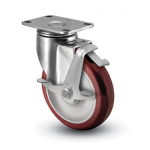 Colson 2 Series Stainless Steel Swivel Caster with Top Lock Brake
