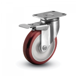 Colson 2 Series Stainless Steel Swivel Caster with Total Lock Brake