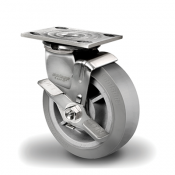 Colson 4 Series Stainless Steel Swivel Top Plate Caster with Top Lock Brake
