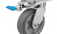 Colson 4 Series Swivel Top Plate Caster with Foot-Activated Swivel Lock