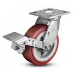 Colson 4 Series Swivel Top Plate Caster with Tread Lock Brake