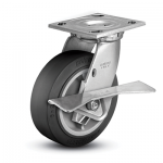 Colson 4 Series Swivel Top Plate Caster with Side Lock Brake
