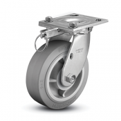 Colson 4 Series Swivel Top Plate Caster with Hand-Activated Swivel Lock