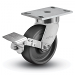 Colson 6 Series Enforcer Kingpinless Swivel Caster with Tread Lock Brake