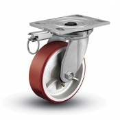 Colson 6 Series Swivel Top Plate Caster with Hand-Activated Swivel Lock