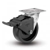 Colson Encore 4 Series Stainless Steel Swivel Top Plate Caster with Tech Lock Brake