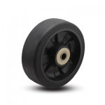 Colson Trans-forma LT Wheel Flat Black Tread with capacity to 500 pounds