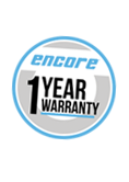 Encore branded casters are backed by a 1 year warranty