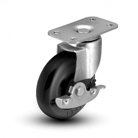 Colson 1 Series Top Plate Caster with Side Lock Brake