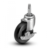 Colson 1 Series Wood Furniture Stem Caster with Side Lock Brake