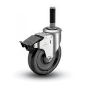Colson 2 Series Expanding Adapter Stem Caster with Total Lock Brake