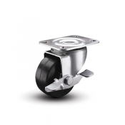 Colson 2 Series LoPro Swivel Caster with Side Lock Brake