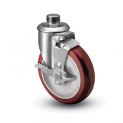 Colson 2 Series Pipe Thread Stem Caster with Top Lock Brake