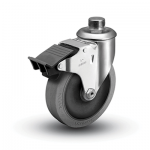 Colson 2 Series Pipe Thread Stem Caster with Total Lock Brake