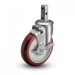 Colson 2 Series Square Stem Swivel Caster with Top Lock Brake