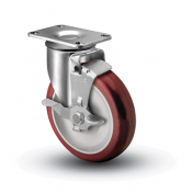 Colson 2 Series Swivel Top Plate Caster with Top Lock Brake