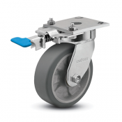 Colson 4 Series Enforcer Kingpinless Swivel Caster with Foot-Activated Swivel Lock