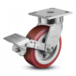 Colson 4 Series Enforcer Kingpinless Swivel Caster with Tread Lock Brake