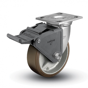 Colson 4 Series Swivel Top Plate Caster with Tech Lock Brake