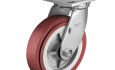 "Colson 4 Series 1-1/2"" wide Polyurethane HI-Tech Wheel on Swivel Top Plate Caster"