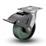 Colson 4 Series Swivel Top Plate Caster with Total Lock Brake