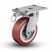 Colson 6 Series Enforcer Kingpinless Swivel Caster with Hand-Activated Swivel Lock