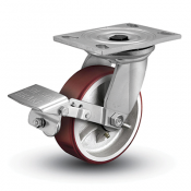Colson 6 Series Swivel Top Plate Caster with Tread Lock Brake