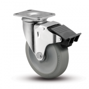 Colson Encore 2 Series Swivel Top Plate Caster with Total Lock Brake