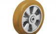 Colson Triumph Ergonomic Polyurethane Wheel with brown crown tread and capacities to 1200 pounds