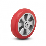 Colson Triumph Ergonomic Polyurethane Wheel with red crown tread and capacities to 1200 pounds