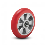 Colson Triumph Ergonomic Polyurethane Wheel with round red tread and capacities to 1200 pounds