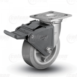 "Colson 4 Series 1-1/2"" Performa Wheel on Top Plate Swivel Caster with Tech Lock Brake"